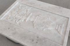 Engraving on marble
