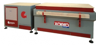 XAERO – Dust extraction bench with twofold dry dust exhaustion system