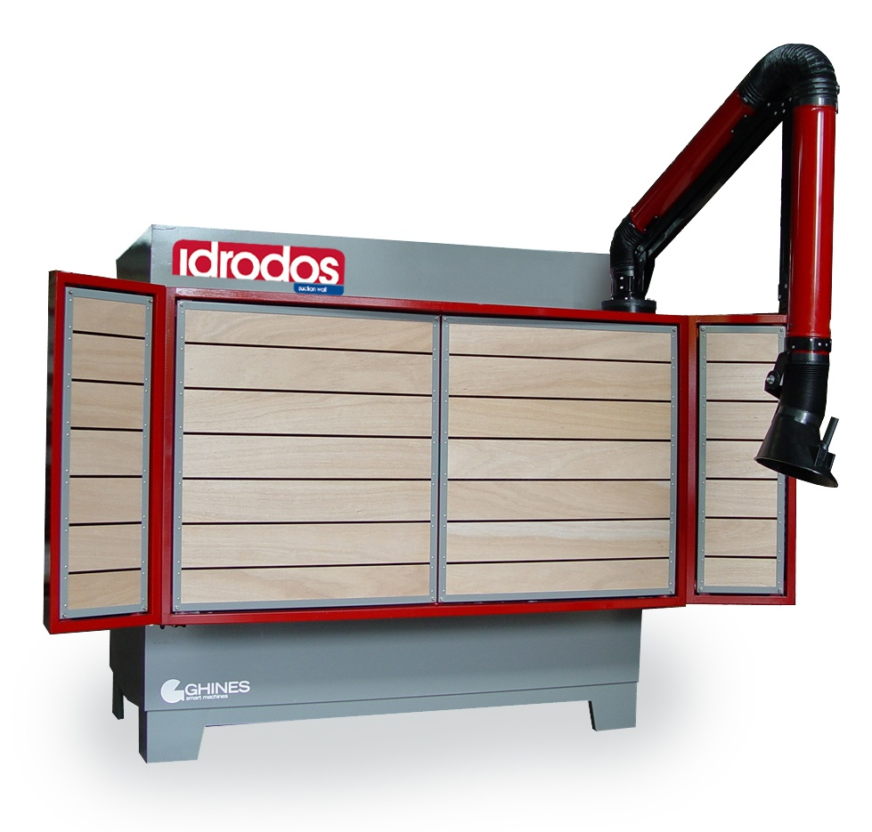 IDRODOS – Dust suction wall for marble, granite, stone