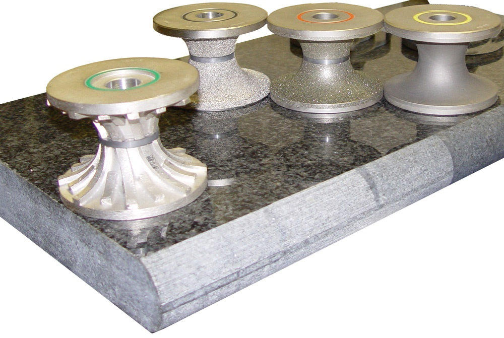 Diamond router bits for stone